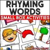 Rhyming Words: Small Box Activities