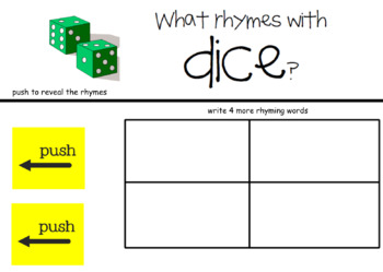 Rhyming Words SmartBoard Lessons for Primary Grades