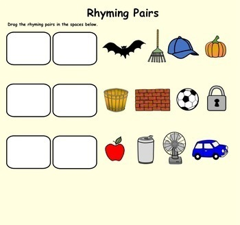 Rhyming Words Smartboard Fun (Interactive Smartboard Lesson for Gr. 1-2)