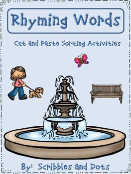 Rhyming Words ~ Sorting Activities