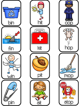 Rhyming Mats & Picture Sorts with Formative Assessments & Free Mats in Preview