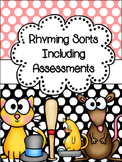 Rhyming Sort Cards (or Center) PLUS Assessments