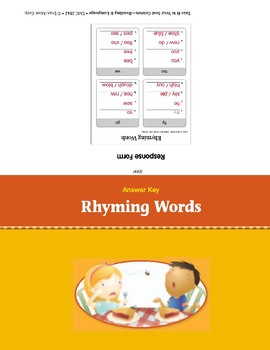 Rhyming Words (Take It to Your Seat Centers)