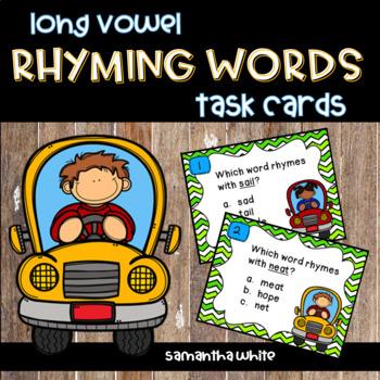 Rhyming Words Task Cards {Long Vowels}
