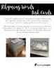 Rhyming Words Task Cards - Low prep, self-checking word work fun!
