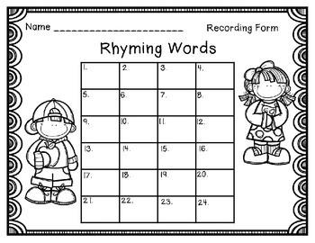 Rhyming Words Task Cards {Short Vowels}