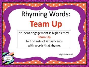 Rhyming Words:  Team Up