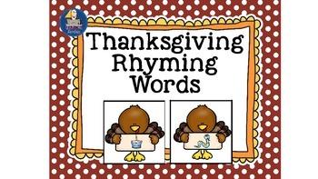 Rhyming Words Thanksgiving Turkey