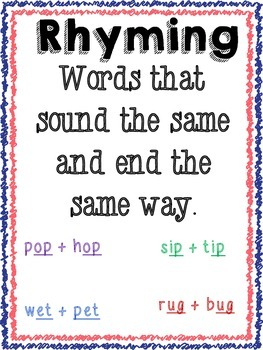 Rhyming Words True or False Game/File Folder Activity