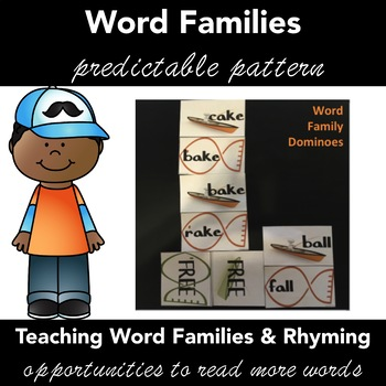 Word Families & Rhyming Words Activity: DOMINOES