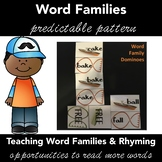 Rhyming Words, Word Families DOMINOES Game Activity