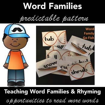 Word Families & Rhyming Words Activity:  GO FISH