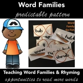 Rhyming Words, Word Families GO FISH Game Activity