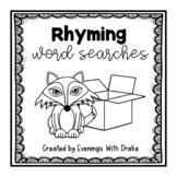 Rhyming Words Word Search Bundle