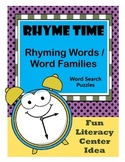 Phonics Word Searches / Word Families / Rhyming Words / 1st Grade