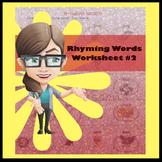 Rhyming Words Worksheet #2