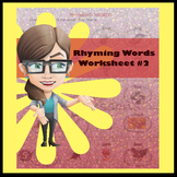 Rhyming Words Worksheet #2