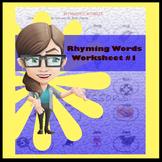 Rhyming Words Worksheet #1