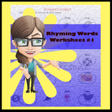 Rhyming Words Worksheet #1