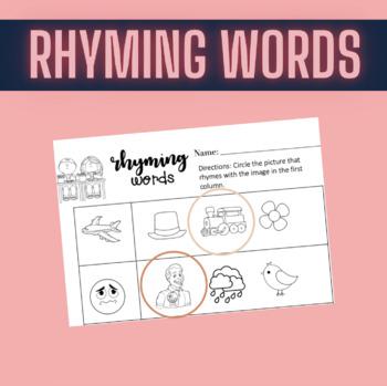 Rhyming Words Worksheet