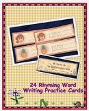 Spanish Rhyming Words Writing Cards Colored
