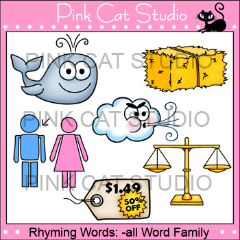 Rhyming Words: -ale Rime Word Family Clip Art Set - Personal or Commercial Use