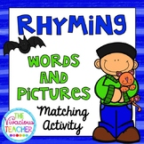 Rhyming Words and Pictures Matching Activity