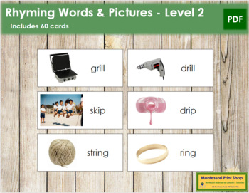 Rhyming Words and Pictures - Level 2