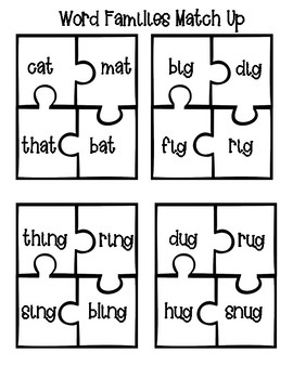 Rhyming Words and Word Families Center