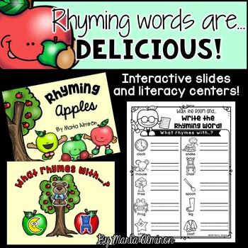 Rhyming Words are DELICIOUS! {Interactive Slides and Literacy Centers}