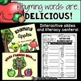 Rhyming Words are DELICIOUS! {Interactive Slides and Liter