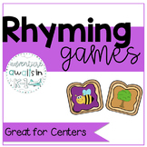 Rhyming Words for Kindergarten and First Grade