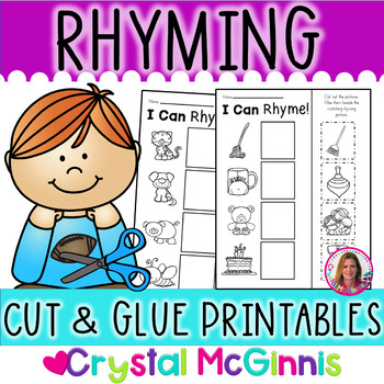 Rhyming Words for Young Learners (10 Cut & Paste Rhyming Printables)