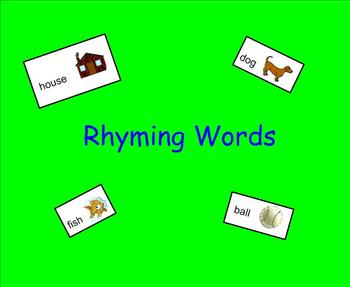 Rhyming Words for young students