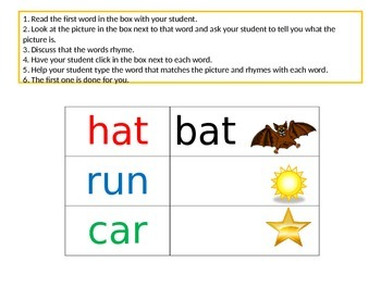 Rhyming Words in Power Point