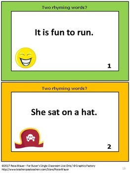 Rhyming Words Task Cards