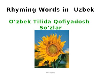 Rhyming Words  in  Uzbek   and English