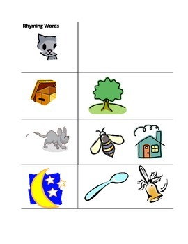 Rhyming Worksheet