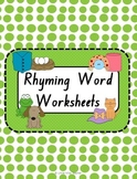 Rhyming Word Worksheets