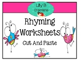 Rhyming Worksheets - Cut And Paste
