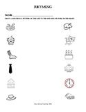 Kindergarten Rhyming Assessment or Worksheet