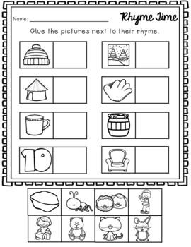Rhyming Worksheets NO PREP