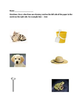Rhyming Worksheets Packet 1