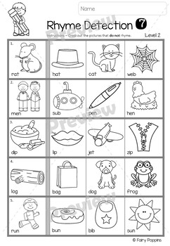 Rhyming Worksheets (Phonological Awareness) *NEW*