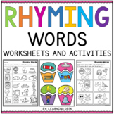 Rhyming Words Worksheets - Rhyming Words Activities