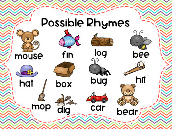 Rhyming Write the Room - A rhyme producing center