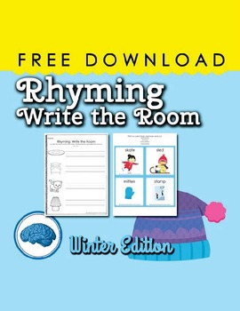 Rhyming Write the Room Winter Edition | Free