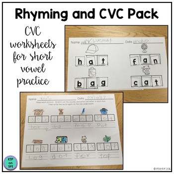 Rhyming and CVC Pack (small group and RTI resources)