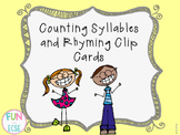 Rhyming and Counting Syllable Clip Cards