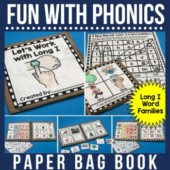 Rhyming  and Spelling Words with Long I Paper Bag Book